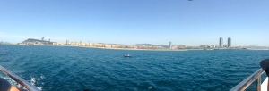 View of BCN beaches from las Golondrinas!