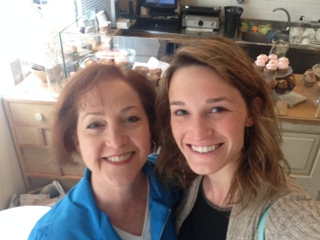 My mama and I at Cup & Cake during her visit!