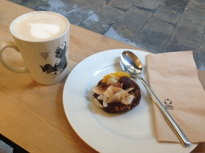 Chai Latte + an orange scone (if I remember correctly?)