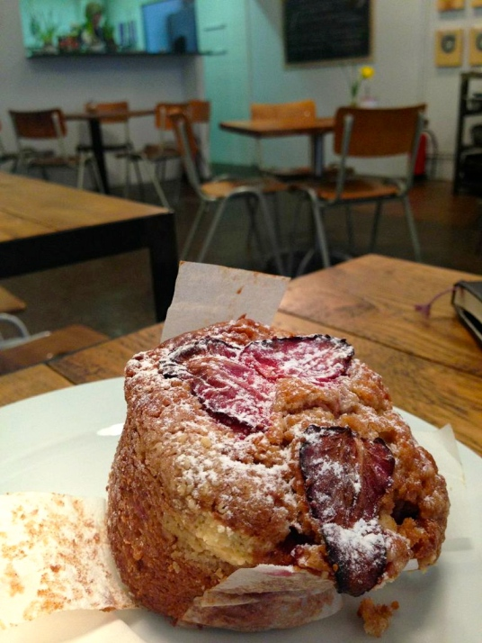 Fresh muffin at Caravelle